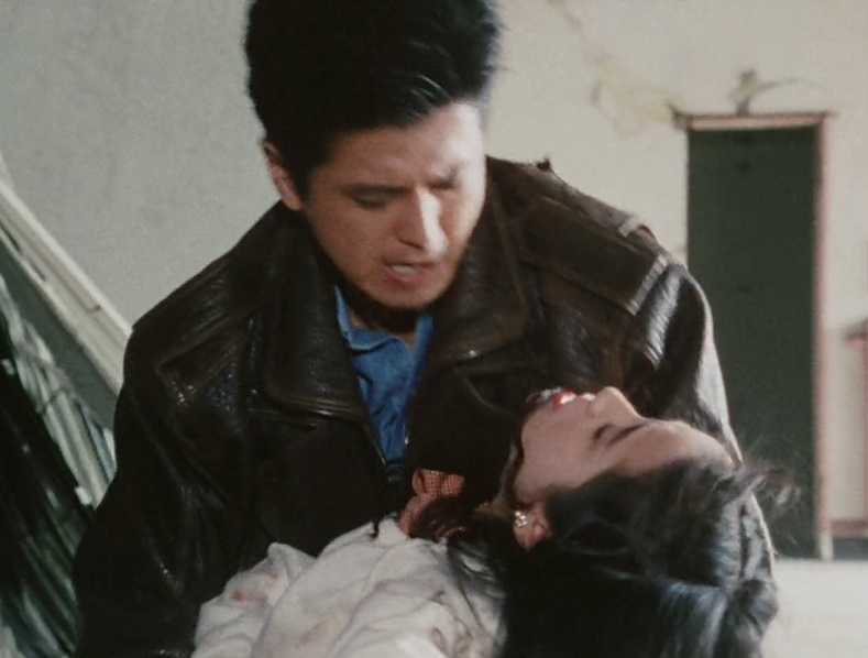 明日香愛(あすか あい)は、風祭 真(かざまつり しん)を庇って氷室の銃弾を受け、致命傷を負う。最期に自らの身篭った自分たちの子供の未来を真に託し、息を引き取る。