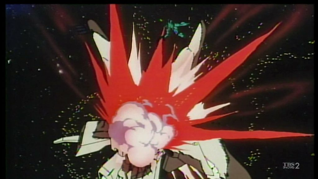 「直撃!?どきなさい、ハサウェイ!」クェス・パラヤは、最後はハサウェイ・ノアを庇うようにして命を落とす事になった。(劇場アニメ「機動戦士ガンダム 逆襲のシャア」の劇中より)