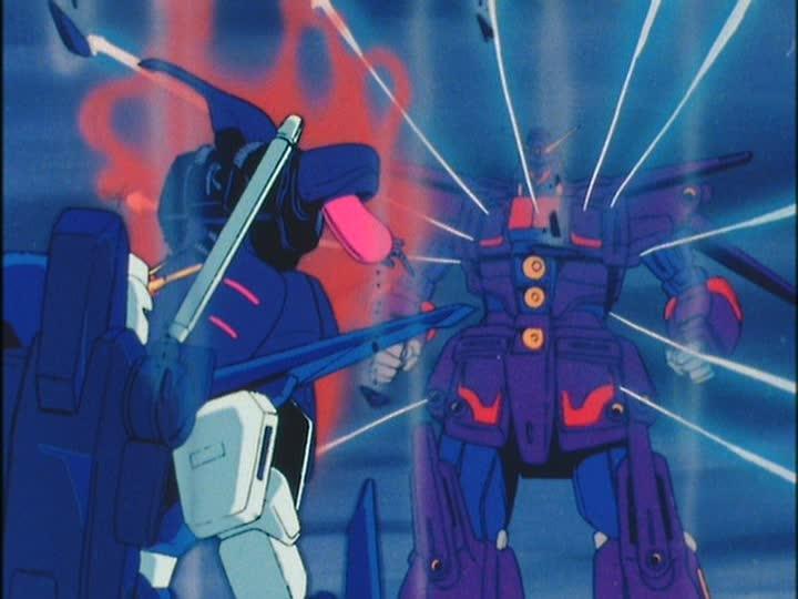 「エルピー・プル」のキュベレイは自身のクローン「プルツー」の駆るサイコガンダムマーク2との戦いにて、ジュドーをかばう形で被弾。プルはキュベレイもろとも、短い生涯を遂げる。
