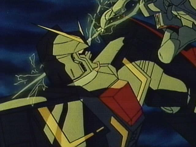 フォウ・ムラサメは、Ζガンダムを狙ってジェリド・メサの乗るバイアランが攻撃してきた際、身を挺してカミーユをかばって盾となり息を引き取る。(『機動戦士Ζガンダム』第36話「永遠のフォウ」の劇中より)