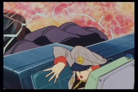 マチルダは、黒い三連星の激昂したオルテガにより、ミデアの操縦室を叩き潰され戦死する(『機動戦士ガンダム』第24話「迫撃! トリプル・ドム」の劇中より)