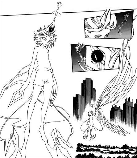 御坂美琴(みさか みこと)「レベル6 Phase5.2」は、腕には圧縮したAIMと電熱化して金属で作った翼を一つ装備しており、それを武器にして戦う。