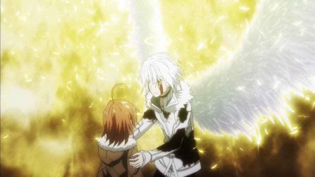 一方通行(アクセラレータ)の「黒い翼」は、精神の成長に合わるように「白い翼」へと変化、さらに頭上には天使の輪が現れるなど外見も変化していた。