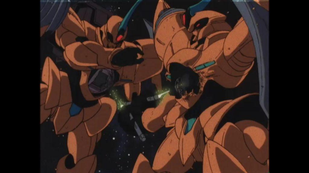 キスハールのリグ・シャッコーを確認するがファラの計略により奪われた機体と判断し、キスハールと気付かずに一騎討ちを仕掛ける。戦闘中にお互いにビームサーベルを突き立て相討ちになるが、直前に相手がキスハールと気付きコックピットへの直撃を外すが自身は重傷を負う。