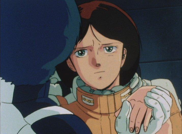 『機動戦士Zガンダム』第50話「宇宙を駆ける」(最終回)は、カミーユが廃棄艦で瀕死のエマ中尉と最後の会話を交わすシーンから始まる。