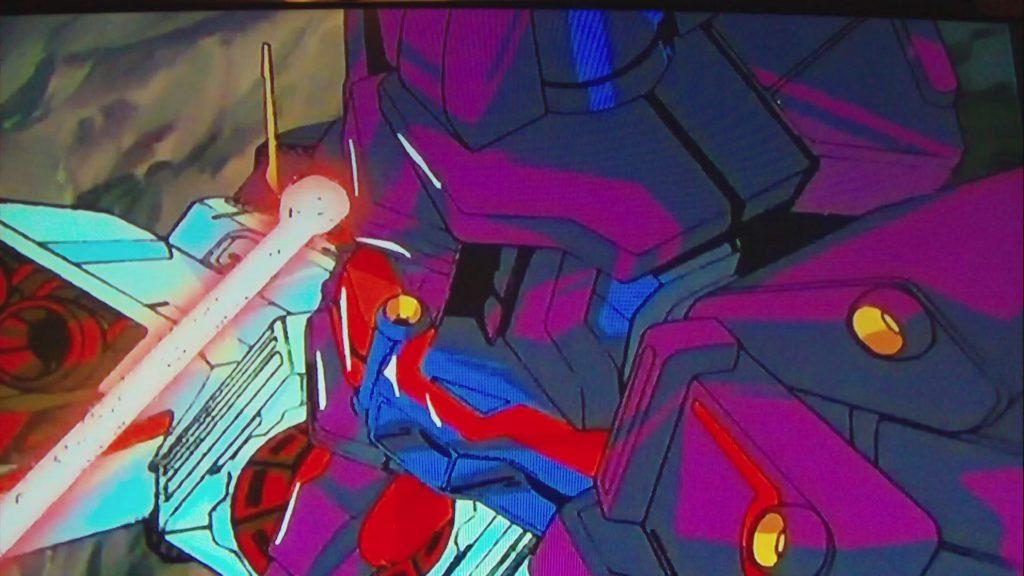 カミーユ・ビダンのΖガンダムがサイコガンダムMk-IIのコクピットの頭部を狙撃して撃破する(『機動戦士Zガンダム』第48話「ロザミアの中で」)。