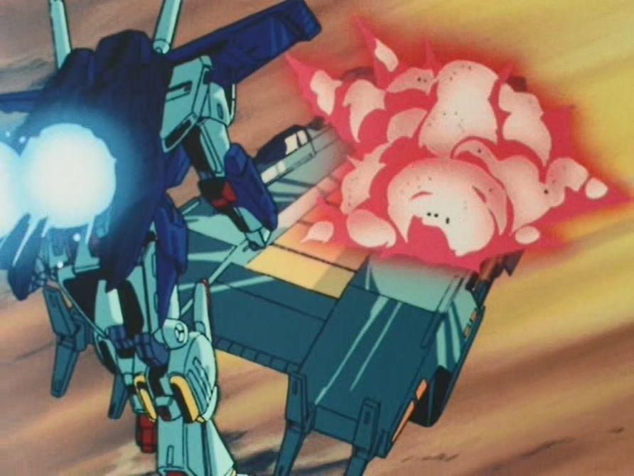 シャトルとグラナダを守るためにガ・ゾウムとゴットン・ゴーの乗る宇宙艇を道連れに爆死したセシリア。