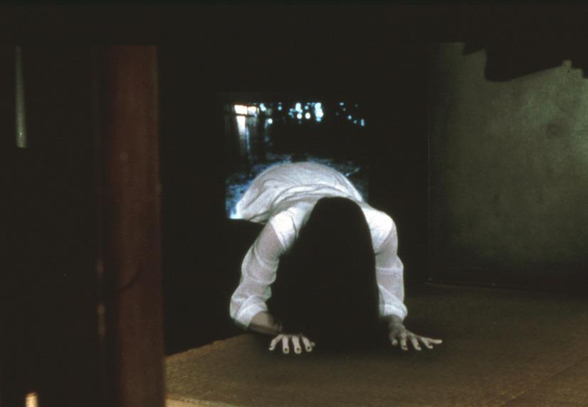 山村 貞子(やまむら さだこ)は、終盤ではテレビから這い出てくる恐ろしげな怪物として描かれた。