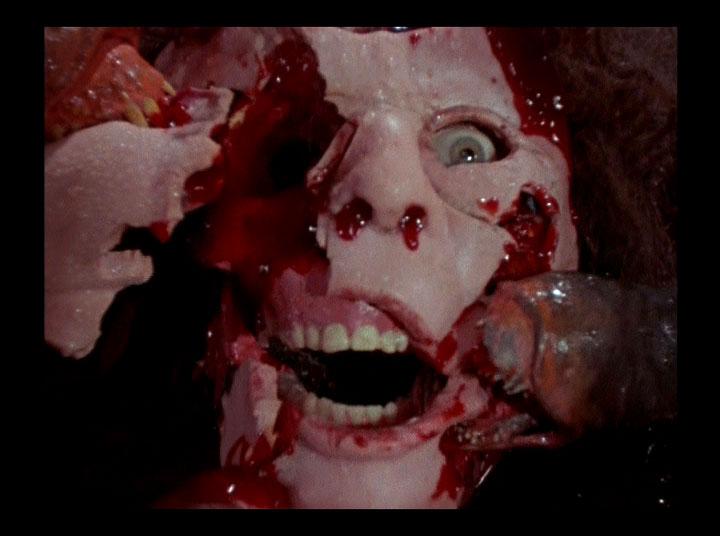 口しか無いクリーチャーがとにかく人間を喰らい尽くすスプラッター・モンスター映画。次から次へと犠牲者が出ていくので阿鼻叫喚の地獄絵図。