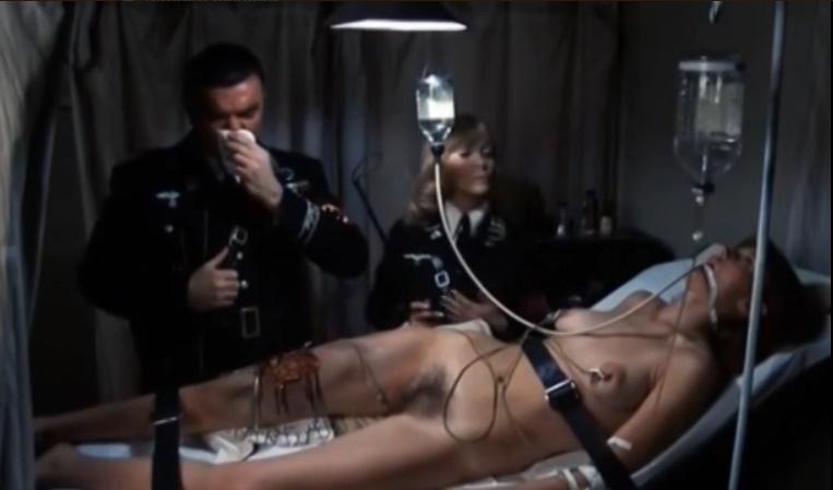 「女収容所もの」(女囚もの)は、収容所で女囚人をいたぶる残虐シーンが売り物の1970年代に流行したポルノ映画ジャンル。