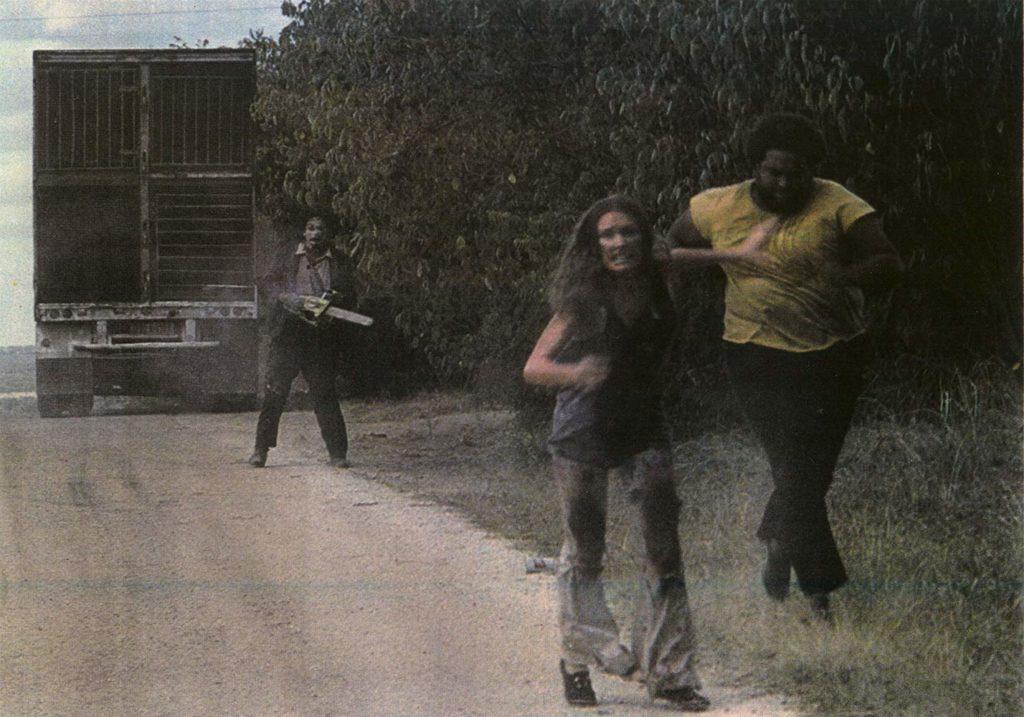 レザーフェイスとサリーの恐怖の追いかけっこ。逃げきれるか。