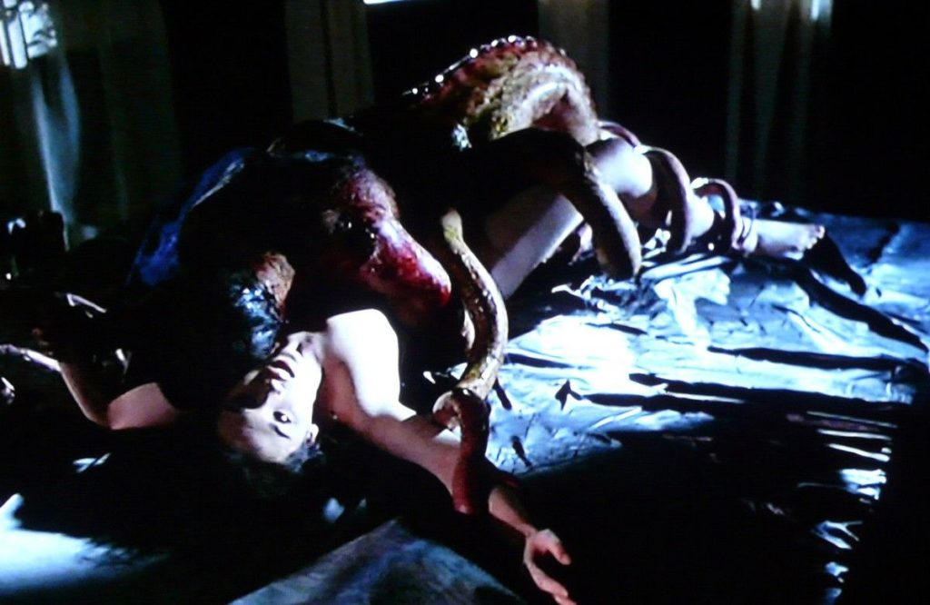 イザベル・アジャーニーが演じる狂気に堕ちていく妻アンナと異形の怪物とのセックス描写が話題になった。今でも語り継がれる。