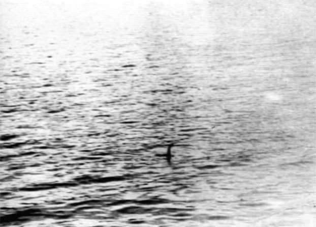 捏造写真のネッシーは実際にはかなり小さいことが分かる。トリミングして大きく見せていた。