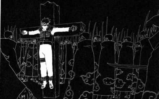 うちはイタチの幻術「月読」(つくよみ)によって、カカシは、「72時間刀で刺され続ける」無間地獄を味合わされた。