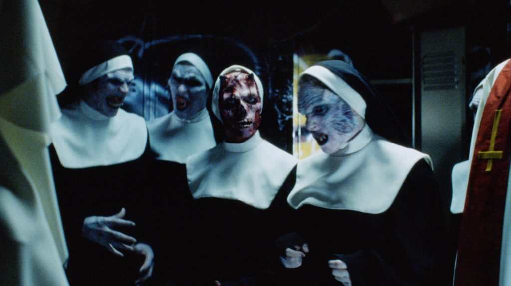 少女・クリスティーンのショットガンによって惨殺された尼僧たちが、40年の時を経てゾンビとして復活した。死霊化するとシスター服を着た尼僧ゾンビになる。