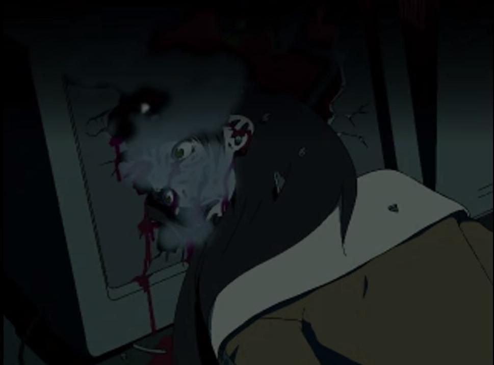 米良 柊子(よねら とうこ)は、玲音に銃殺されてパソコンのモニターに顔面を突っ込んで死亡。本作屈指のトラウマメーカー。