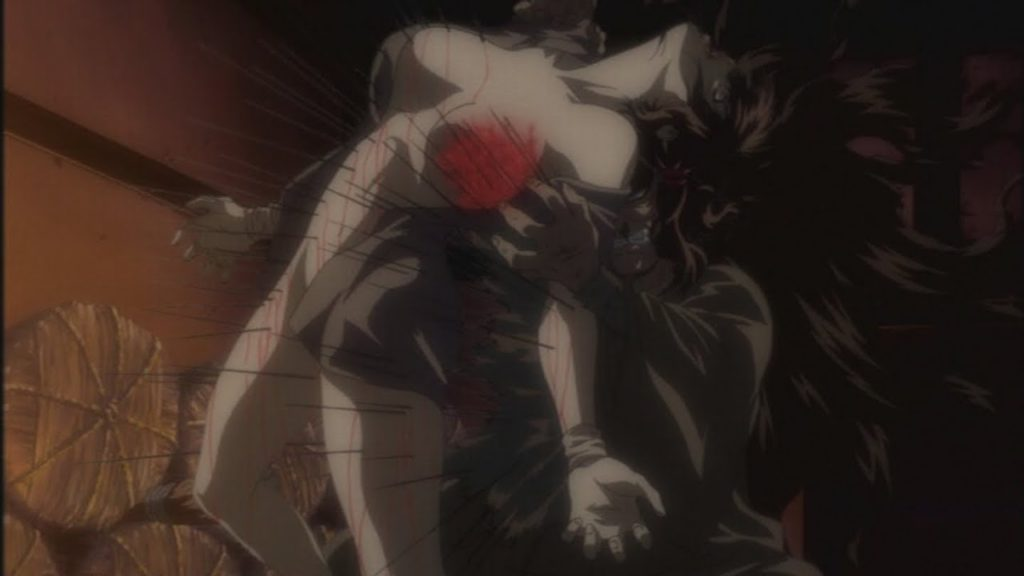 お胡夷(おこい)は、蓑念鬼(みの ねんき)により討たれる。全身の体毛を伸ばし針のように硬化させた蓑念鬼の攻撃に全身を刺し貫かれた。