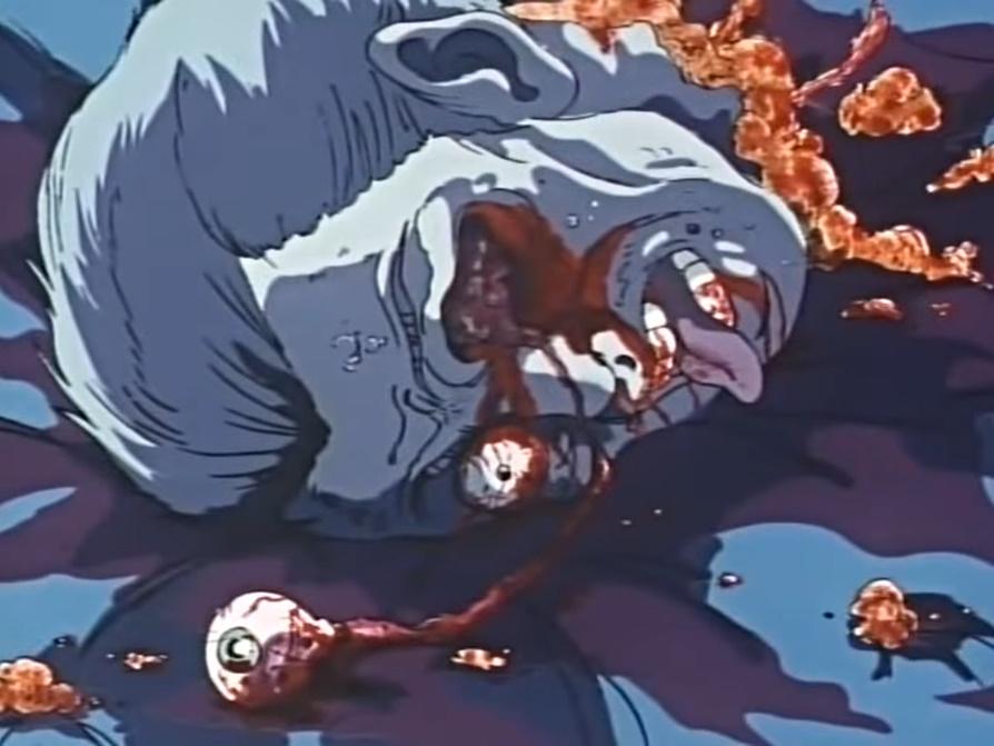「宿儺鬼礫の産子寄せ」によって左目がこぼれ落ち、首チョンパ。生首が転がっている。
