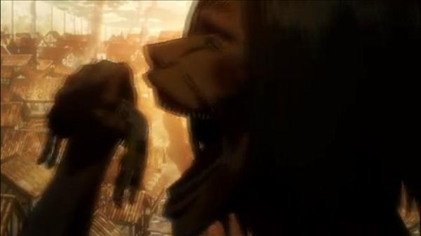 カルラ・イェーガーは、巨人に捕まりエレンの目前で巨人に喰われ死亡。アニメ史に残る壮絶な残酷シーン。