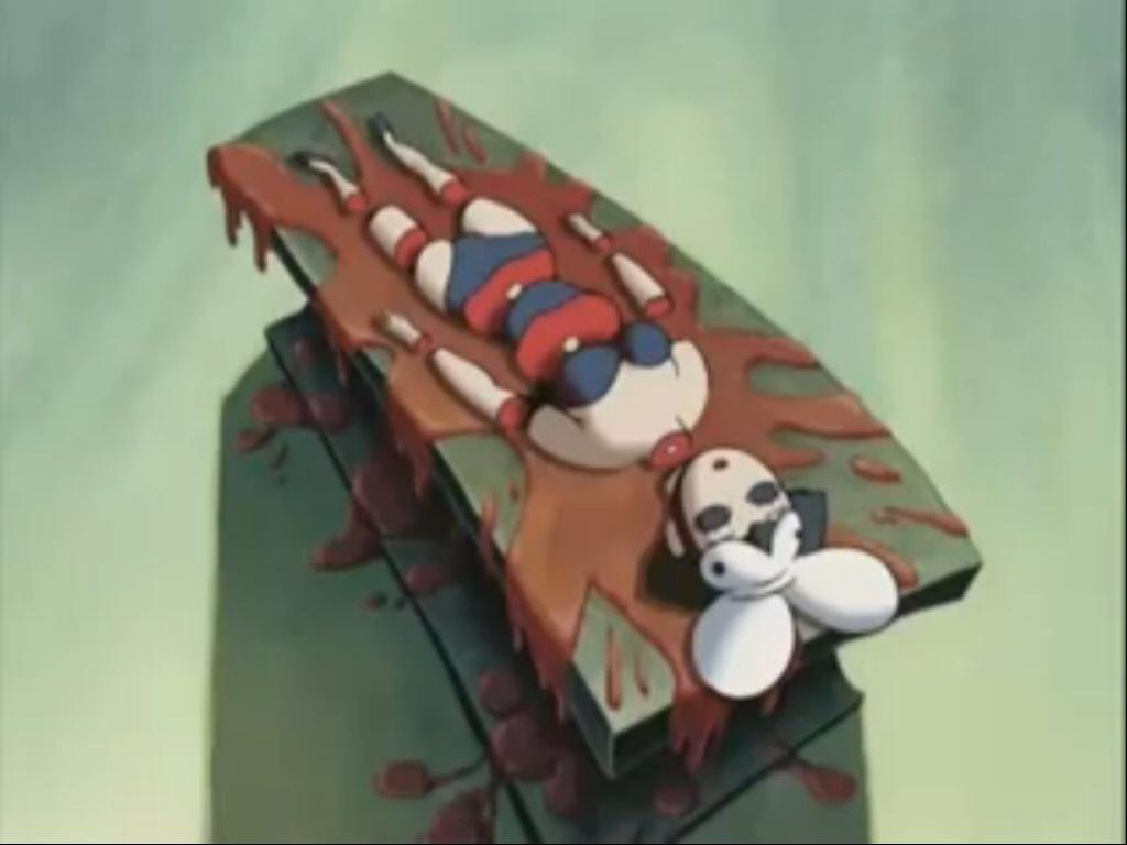 サーカスの本当に人体を切断するショー。かなり残虐なトラウマシーン。