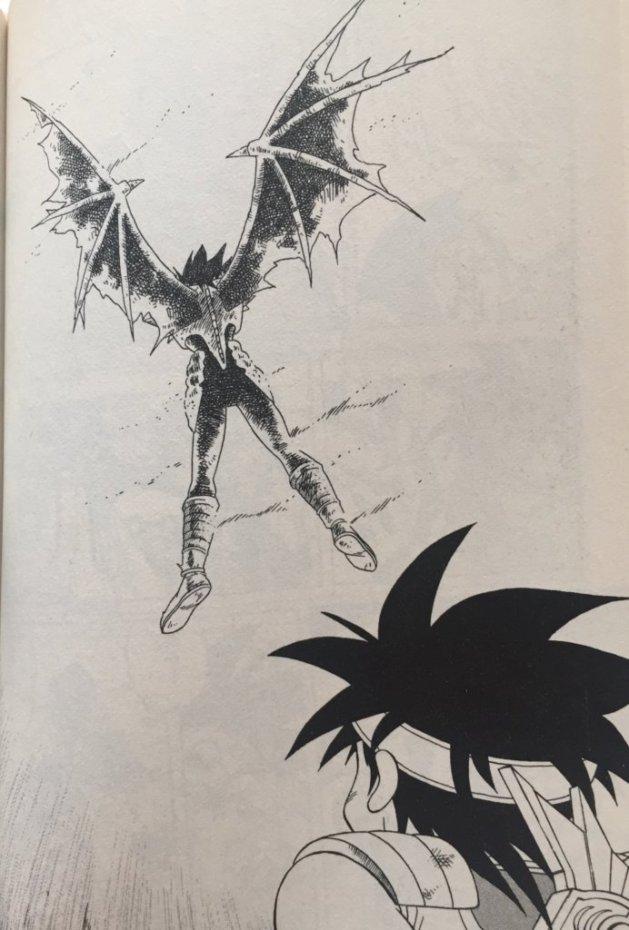ハドラーの体内にある『黒の結晶(コア)』をミストバーンが発動させてしまい、それを庇ったバランは命を落としてしまう。