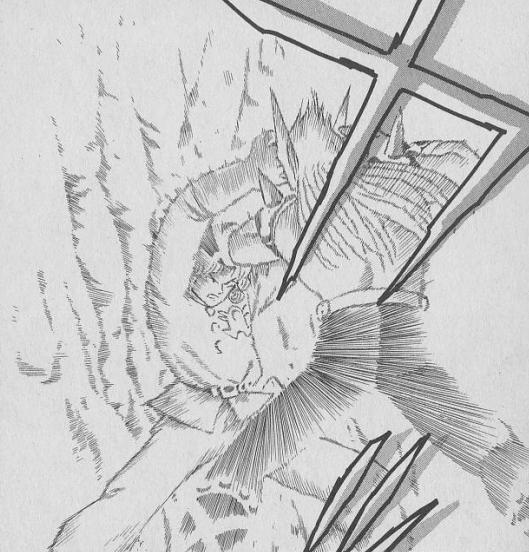 アバンは自らの生命エネルギーを爆発力に変えて敵を討つ自己犠牲呪文「メガンテ」をハドラーにとなえる!