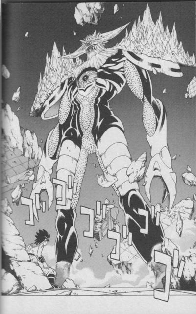 鬼眼王バーンは、第3の眼『鬼眼』の力を全開放した形態。ラストバトルにおける最終形態に相当する。