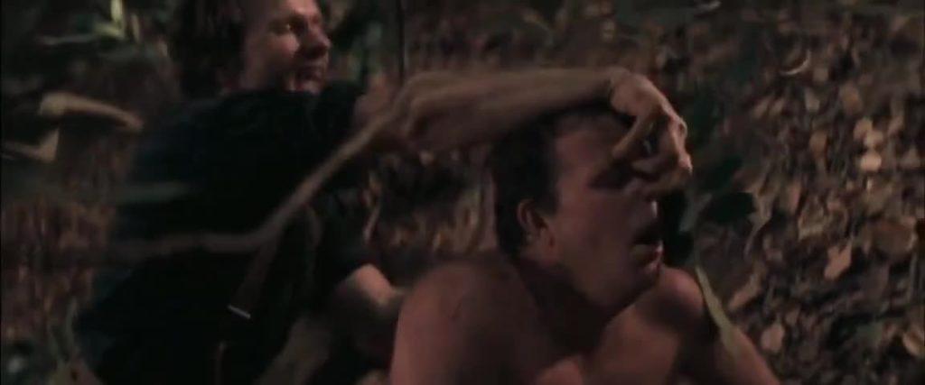 山に住む男は、「金なんかいらねえ。お前のケツが欲しいんだよ!」とすごみ、「豚のように鳴け!」と欲望をむき出しにしてボビーを犯しだす。男が男を犯す凌辱行為がリアルに描かれた。伝説のトラウマシーンとして語り継がれている。