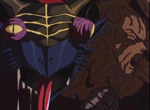 『デビルマン 妖鳥死麗濡編』に登場するジンメン。甲羅には今まで食った人間の顔が浮かび上がっていると言う衝撃的な設定を持つ。原作漫画の読者にトラウマを植え付けた有名なトラウマキャラ。