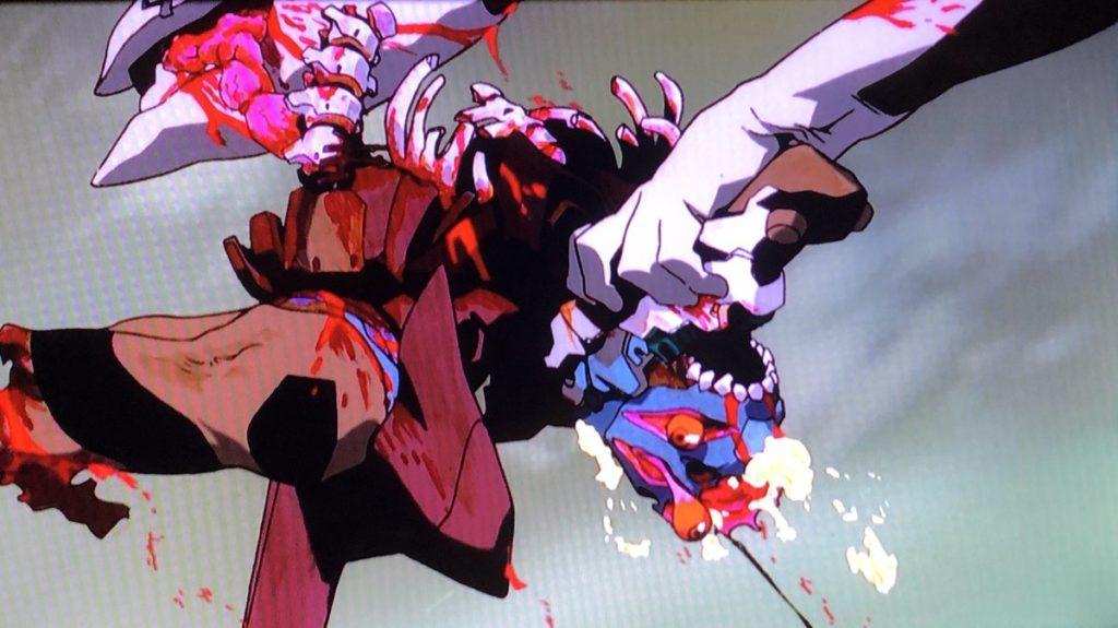 アニメ史に残るグロ描写。エヴァ量産機にエヴァ弐号機が蹂躙され捕食される。