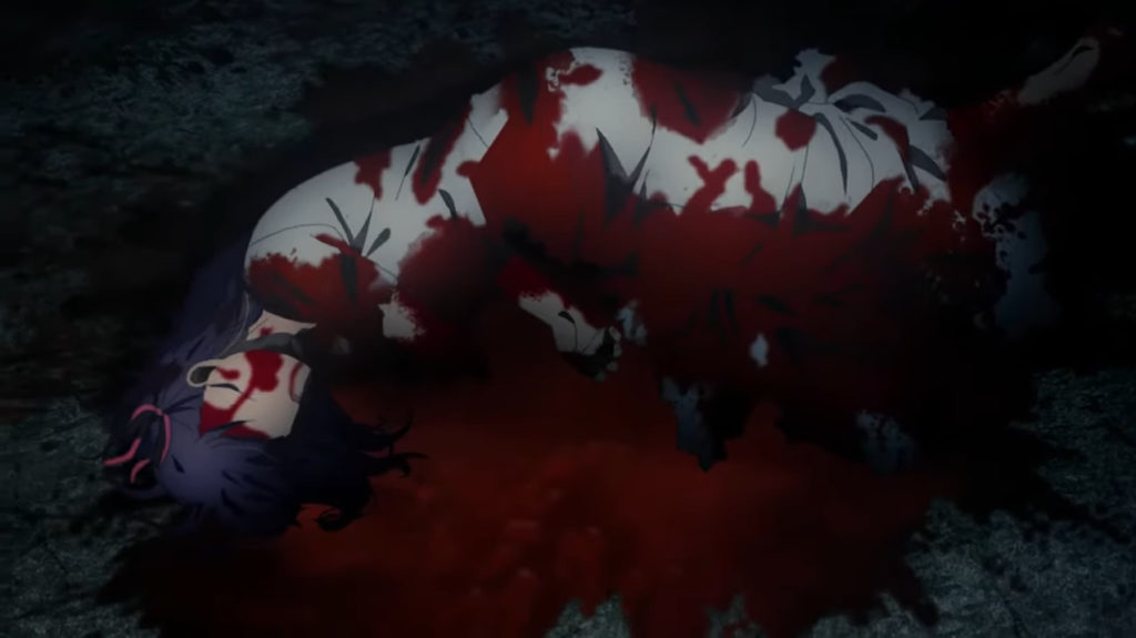 間桐桜にとどめを刺すギルガメッシュ「猶予は終わりだ…せめてもの慈悲と知れ。」