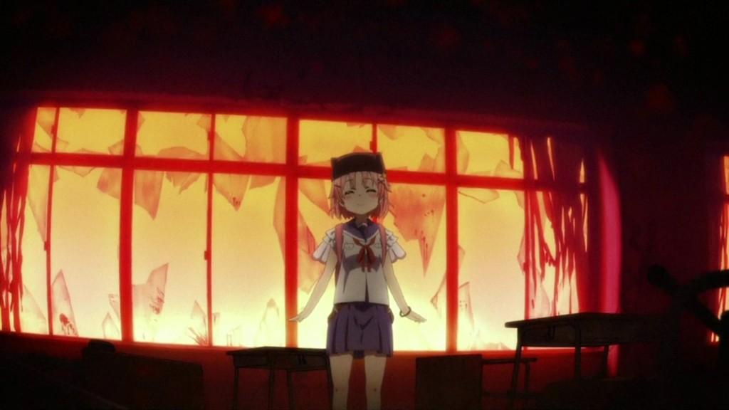 日常系の萌えアニメと思いきや、第1話のラストで、ゾンビホラーアニメであることが分かる衝撃的な展開。