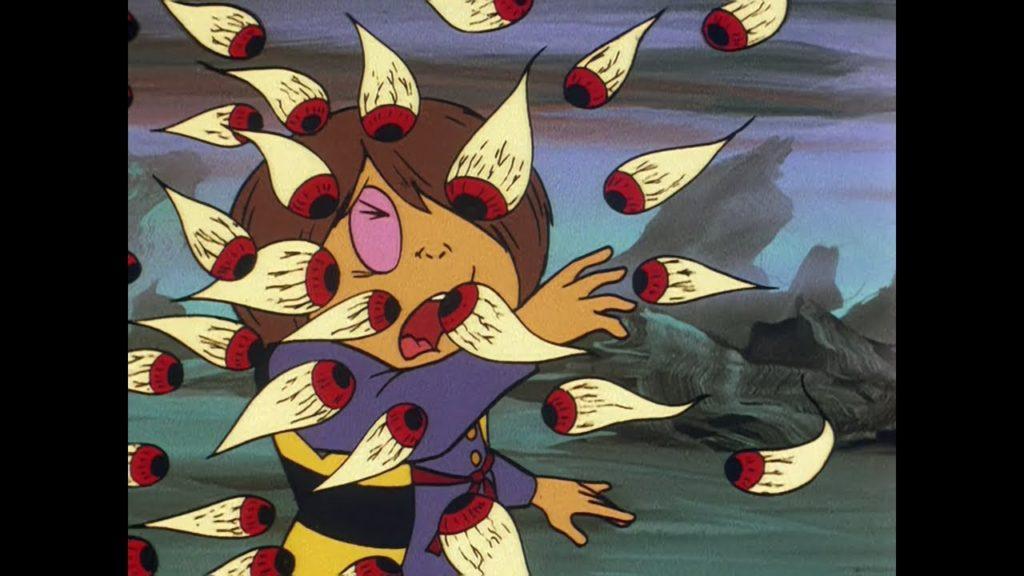 目玉の親父の逆モチ殺しは、1971年版「ゲゲゲの鬼太郎」第23話でも同じように使用された。