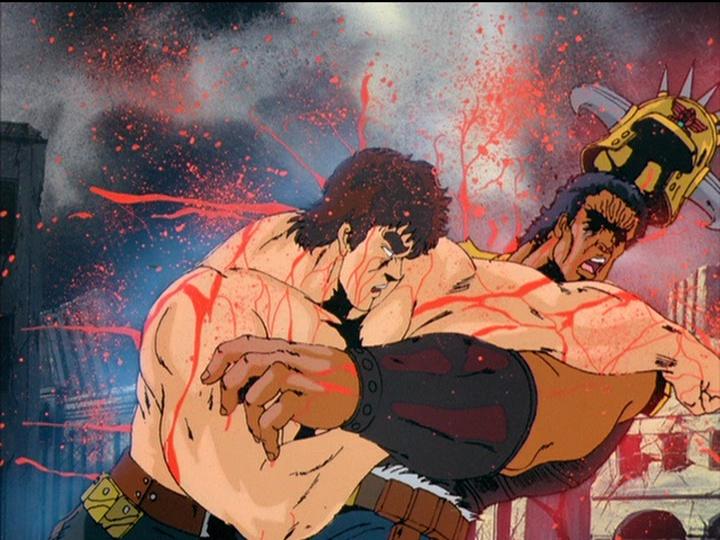 ケンシロウ最大のライバルであるラオウとの死闘。