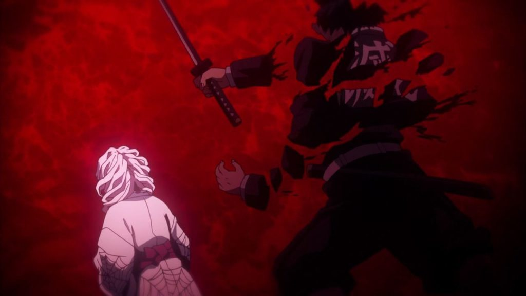 「累(るい)に切り刻まれた剣士」(本名不明)は、サイコロステーキのごとくバラバラになった。