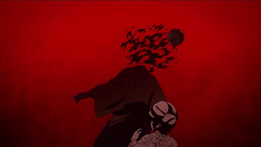 朱紗丸(すさまる)の血鬼術 『毬』は、愈史郎の頭を粉々に砕いた。人体破壊描写は非常に多い。