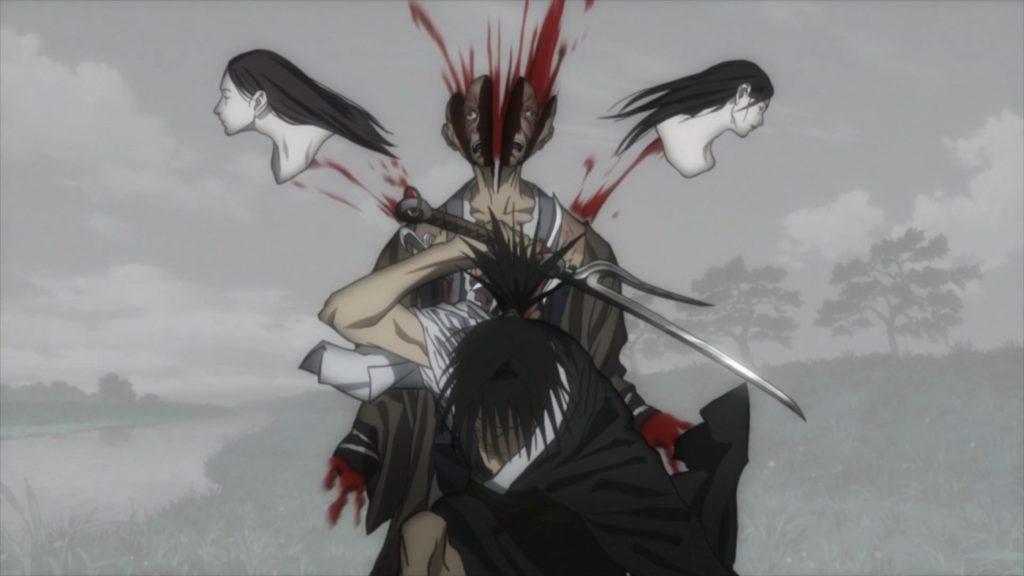 黒衣鯖人は、万次(まんじ)によって切り裂かれた。凄まじい残酷描写になっている。