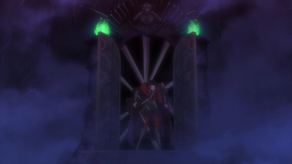 ヴァルハラ・ゲートの針に串刺しにされる魔王であったが…。