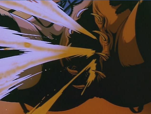 蜘蛛女(妖獣都市)の局部から糸が吐き出される壮絶なエログロ演出。