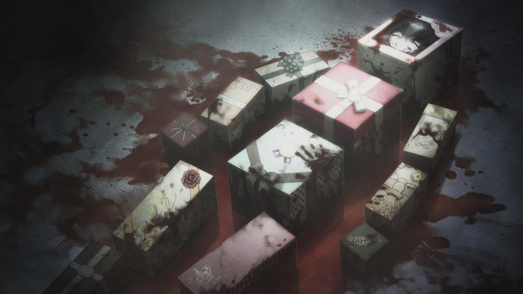 ニュージェネレーションの狂気の再来第6の事件「非実在青少女」でばらばらにされた結衣。復興が進んでいない渋谷の住宅街の一画で、全身を解体され、箱に詰められて人体の形になるよう並べられた遺体が発見された。