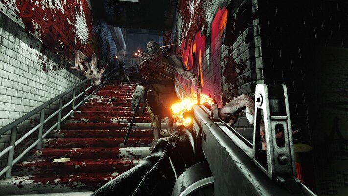 「Killing Floor 2」は、過激なゴア表現が売り。1ゲームが終了するときには周りが血の海になっている。