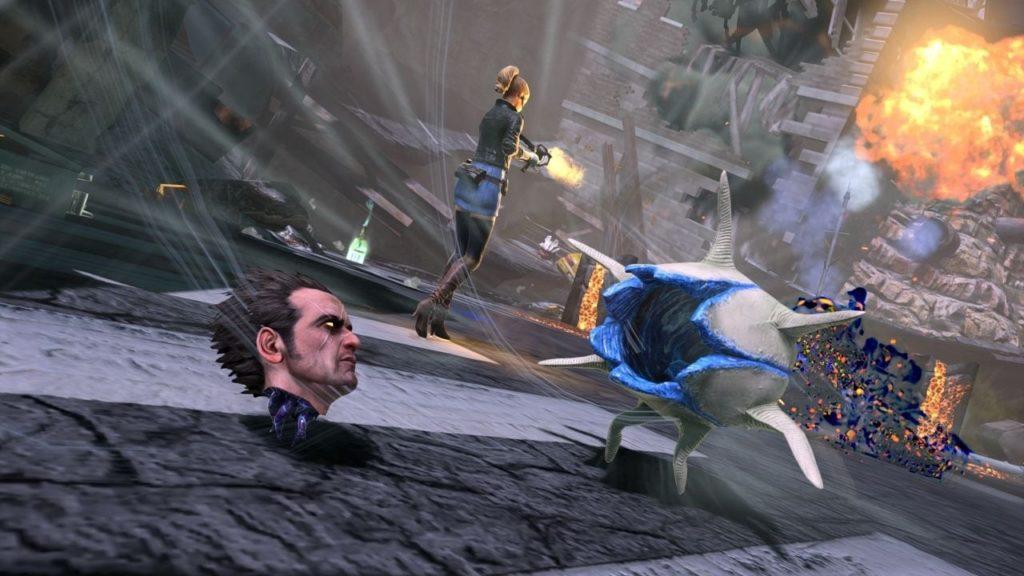 不死身アクションの「NeverDead」は不老不死の主人公を操作し、デーモンと呼ばれる悪魔の軍団と戦っていくアクションゲーム。不死身の主人公は、体がバラバラになり「頭だけ」になっても、行動する事ができる。当時は、頭だけでゴロゴロ転がる主人公の姿が話題となった。