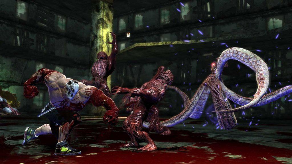 PS3とXbox360用にリメイクされた『スプラッターハウス』。ナムコが1988年にアーケードゲームとしてリリースした『スプラッターハウス』シリーズの最新作。