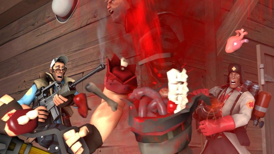 爆発でバラバラになったり剣で斬首されたりと、絵柄はポップだがグロい残酷ゲーム。