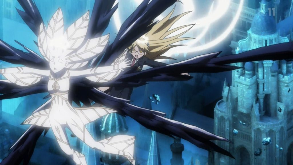 上条を助けようと学園都市から飛来した学園都市製の科学天使『ヒューズ・カザキリ』がガブリエルに挑む展開に。