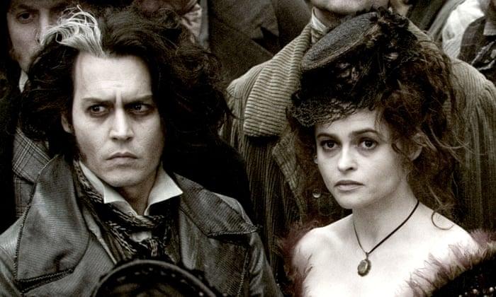 残虐なラヴェット夫人(ヘレナ・ボナム=カーター)と理髪師ベンジャミン・バーカー(ジョニー・デップ)