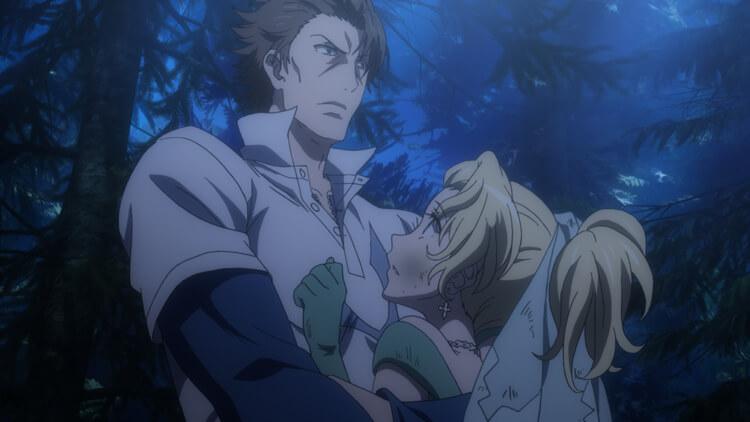 絶体絶命のヴィリアンを助けに来た後方のアックア。アックア(本名は、ウィリアム・オルウェル)に抱きかかえられているヴィリアン。ヴィリアンを逃がしたアックアはナイトリーダー(騎士団長)と対峙する。