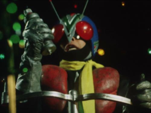 命を懸けて人類を救うライダーマン。プルトン爆弾を安全な場所で自爆させる。ライダーマン(結城丈二)の壮絶な最期。