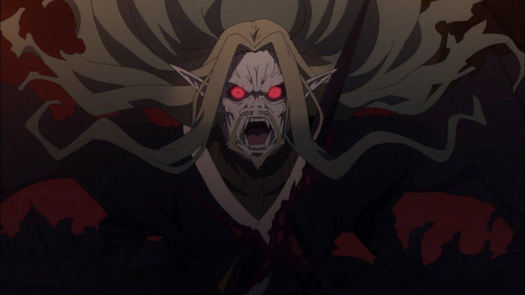 吸血鬼化した黒のランサー「ヴラド三世」。