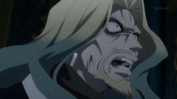 黒のランサー(ヴラド三世)は、「鮮血の伝承(レジェンド・オブ・ドラキュリア)」によって吸血鬼ドラキュラの姿に変貌する